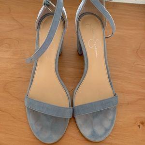 Blue grey Jessica Simpson heels